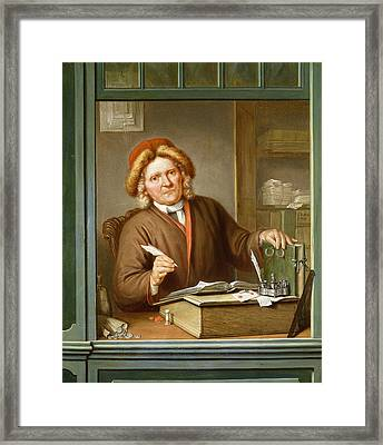 A Tax Collector, 1745 Framed Print by Tibout Regters