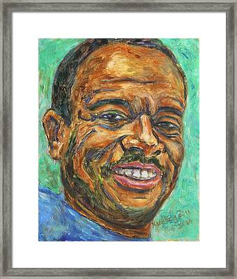 Framed Print featuring the painting A Teacher From Atlanta Ga by Xueling Zou