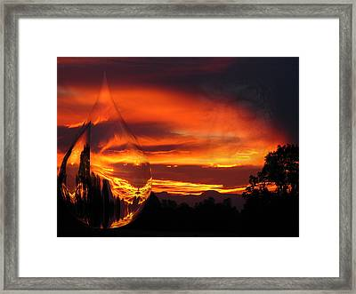 Framed Print featuring the digital art A Teardrop In Time by Joyce Dickens