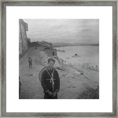 A Teenage Boy By Min River In Sichuan Framed Print by Cecil Beaton