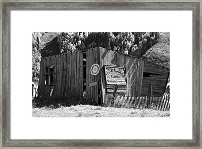 A Telluride Welcome Framed Print by David Lee Thompson