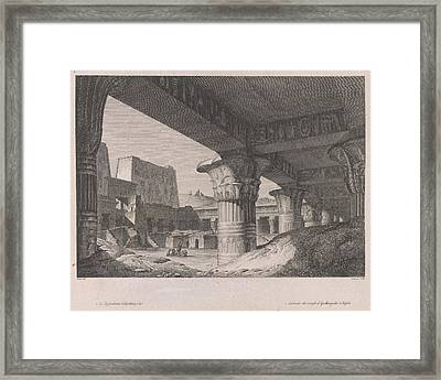 A Temple Framed Print by British Library