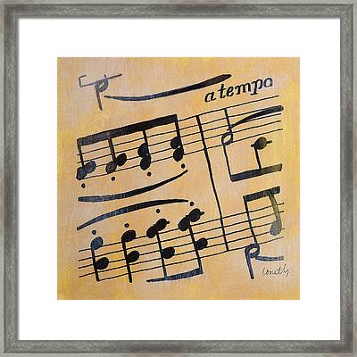 A Tempo II Framed Print