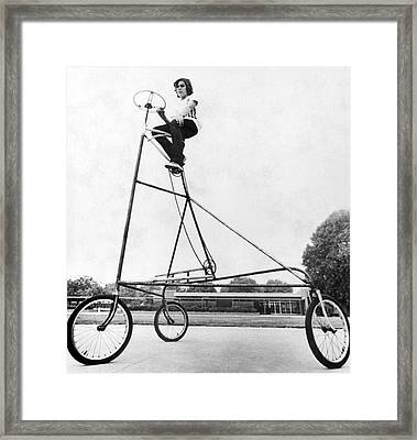 A Ten Foot Tall Tricycle Framed Print