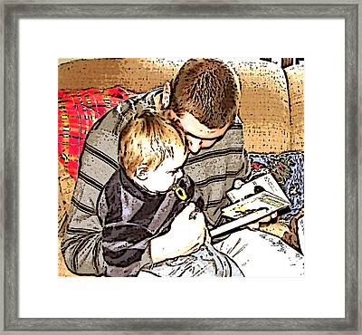 Framed Print featuring the photograph A Tender Moment by Pamela Hyde Wilson