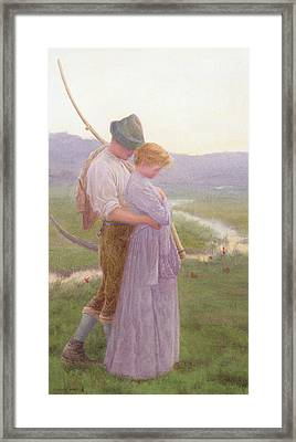 A Tender Moment Framed Print by William Henry Gore