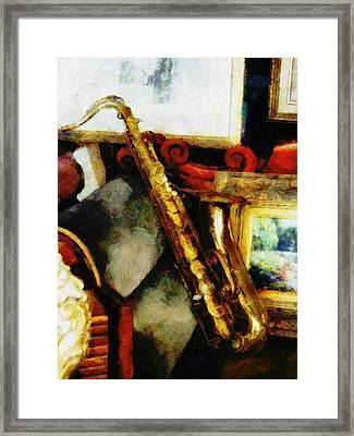 A Tenner Saxophone Framed Print
