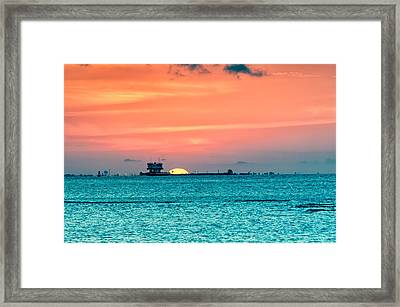 A Texas Sunset Framed Print