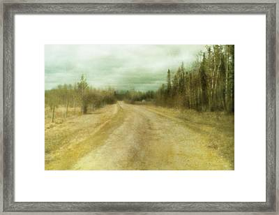 A Textured Pictorialist Photograph Of A Framed Print by Roberta Murray