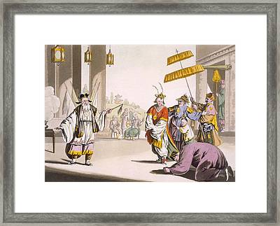 A Theatrical Performance In The Open Framed Print by Italian School