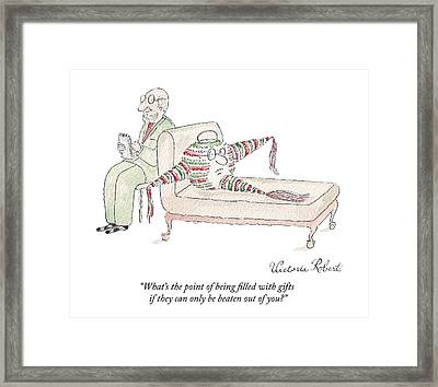 A Therapist Listens To A Pinata Patient Framed Print