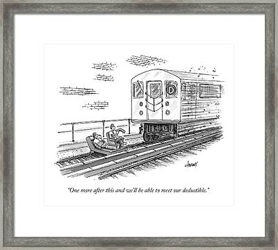 A Therapist Speaks To A Patient On Train Tracks Framed Print