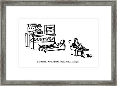 A Therapist's Office With A Concession Stand Framed Print