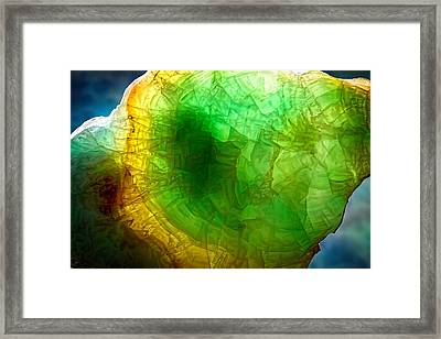 A Thin Slice Of Rock Framed Print