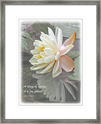 A Thing Of Beauty Is A Joy Forever Framed Print by Gill Billington