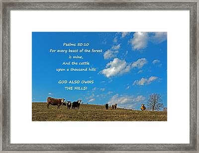 A Thousand Hills Framed Print