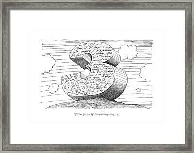 A Three-dimentional ?gure Of Speech Framed Print
