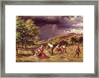 A Thunder Shower, 1859 Framed Print by James Thomas Linnell