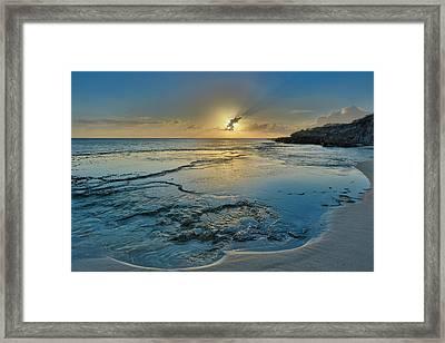 A Tidal Shelf On Kawakiu Nui Beach Framed Print by Richard A Cooke Iii.