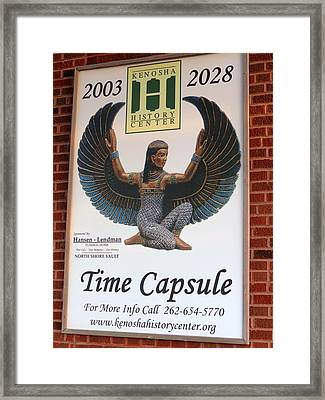 A Time Capsule Framed Print by Kay Novy