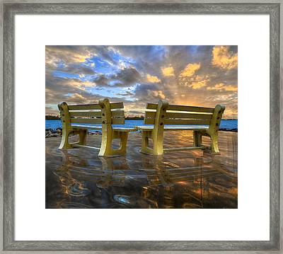A Time For Reflection Framed Print by Debra and Dave Vanderlaan