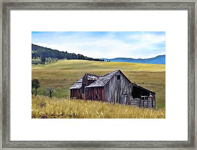 A Time In Montana Framed Print