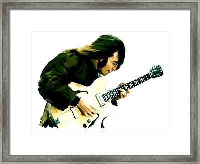A Time It Was  John Lennon Framed Print by Iconic Images Art Gallery David Pucciarelli