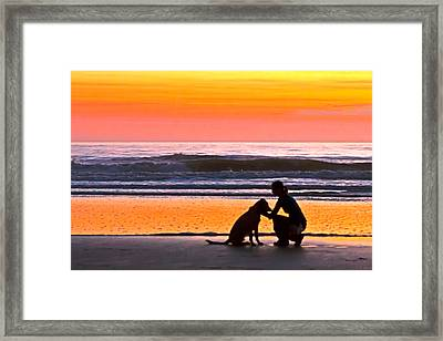 A Time To Bond Framed Print by Jim Finch