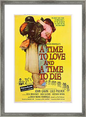 A Time To Love And A Time To Die, Us Framed Print by Everett