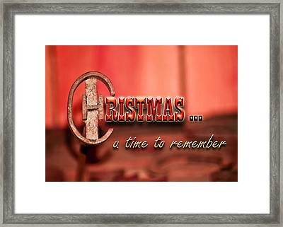 A Time To Remember Framed Print by Carolyn Marshall