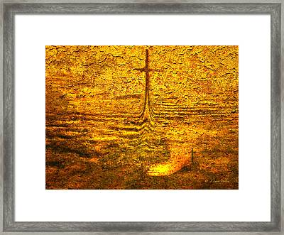 Framed Print featuring the digital art A Time To Ruminate by J Larry Walker