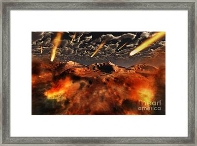 A Time When The Earth Was Being Formed Framed Print by Mark Stevenson
