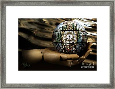 A Times Droplet Meditation Framed Print by Rosa Cobos