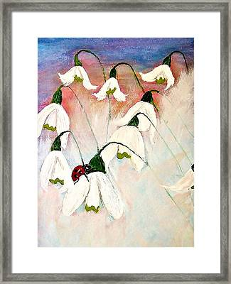 Framed Print featuring the painting A Tiny Guy With Luck  by Cristina Mihailescu