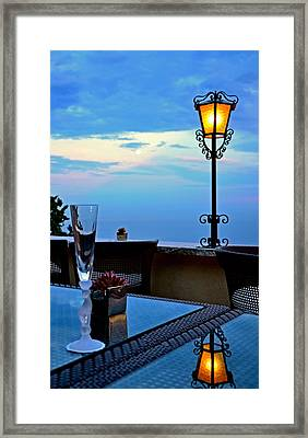 A Toast Framed Print by Corinne Rhode
