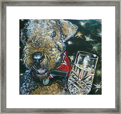 A Toast To Bailey Framed Print