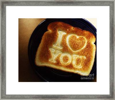 Framed Print featuring the photograph A Toast To My Love by Kristine Nora