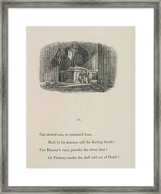 A Tomb Framed Print by British Library