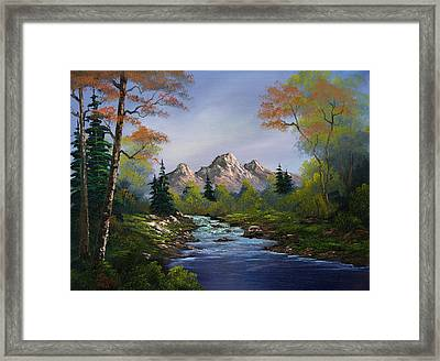 A Touch Of Autumn Framed Print by C Steele