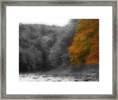 A Touch Of Autumn Colors Framed Print by Smilin Eyes  Treasures