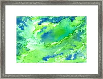 A Touch Of Blue Framed Print by Rosie Brown
