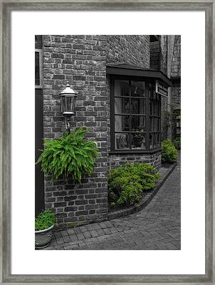 A Touch Of Green In The City Framed Print