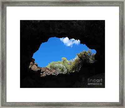 Framed Print featuring the photograph A Touch Of Sky by Debra Thompson