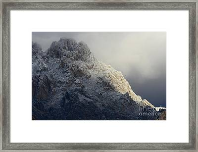 A Touch Of Winter In New Mexico Framed Print by Bob Christopher