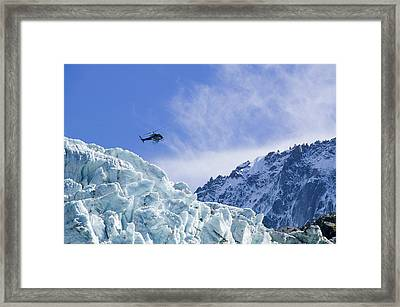 A Tourist Helicopter Flight Framed Print