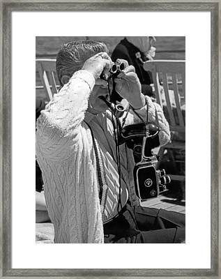 A Tourist With His Gear Framed Print by Underwood Archives