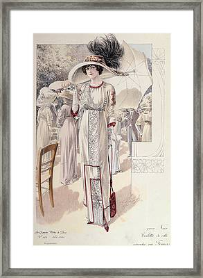 A Town Dress Framed Print