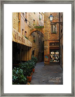 A Town In Tuscany Framed Print by Mel Steinhauer