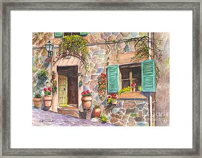 A Townhouse In Majorca Spain Framed Print