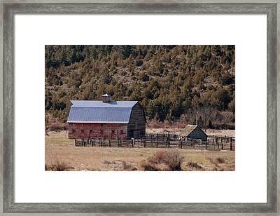 A Townsend Barn Framed Print by Roxann Tempel